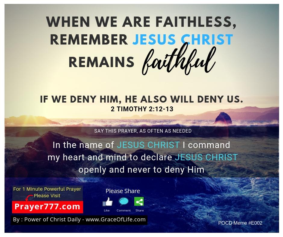 When we are faithless